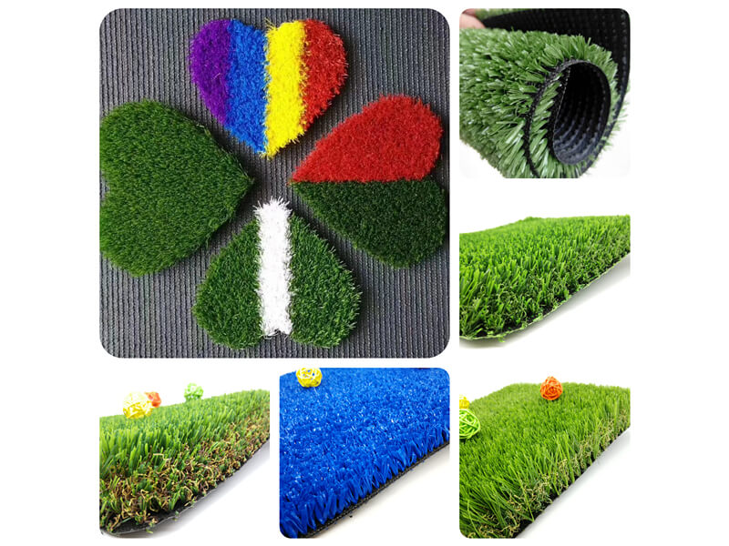 different thickness synthetic turf